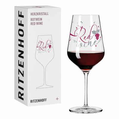 Ritzenhoff Rotweinglas »Herzkristall Rotwein 006«, Kristallglas, Made in Germany