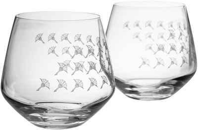 Joop! Tumbler-Glas »JOOP! FADED CORNFLOWER«, Kristallglas, mit Kornblumen-Verlauf als Dekor, 2-teilig