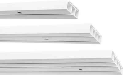 Gardinenstange »Kunststoff Gardinenschiene, 1-/2-/3-läufig, weiß«, Garduna, 1-läufig