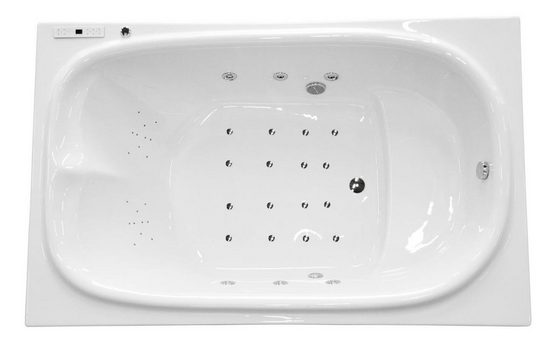 Emotion Whirlpool-Badewanne »Juno rechts Whirlpool mit der Befüllung über den Überlauf«