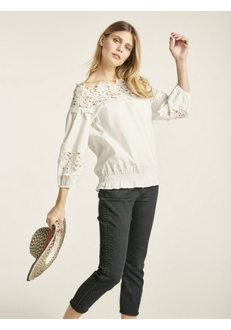 LINEA TESINI by Heine Spitzenbluse off-shoulder