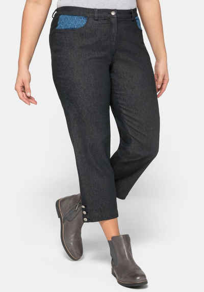 Jeans 44 46 48 50 52 54 56 Gr Moderne Chinohose Hose Sheego rot