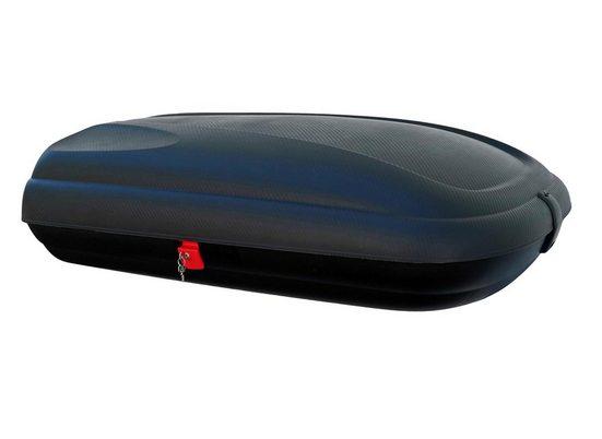 VDP Fahrradträger, Dachbox VDP-BA320 schwarz Dachkoffer 320 Ltr koffer Carbonlook abschließbar
