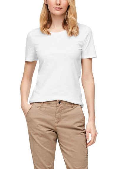 s.Oliver T-Shirt mit zartem Rollsaum