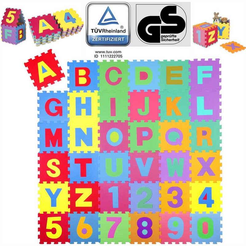 KIDUKU Puzzlematte, 86 Puzzleteile, 86 teilige Puzzlematte TÜV Rheinland geprüft - Kinderspielteppich, Spielmatte, Spielteppich für Baby & Kinder