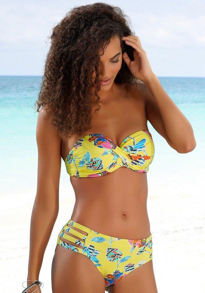 Bademode - Sunseeker Bügel Bandeau Bikini Top »Jam«, mit Wickeloptik › gelb  - Onlineshop OTTO