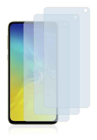 Savvies Schutzfolie »Panzerglas für Samsung Galaxy S10e«, (3 Stück), Schutzglas Echtglas 9H klar