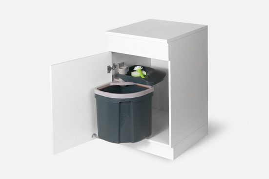 Müllex Einbaumülleimer »Abfallsystem Schwenkeimer Euro Flexx 35 Liter rechts / links anschlagbar«, für Schrankbreite ab 450 mm mit Drehtür