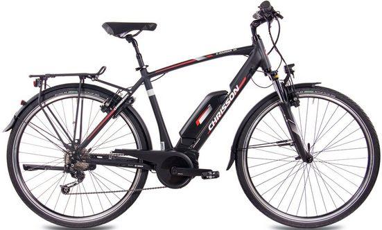 Chrisson E-Bike »E-Rounder Gent 9S«, 9 Gang Shimano Deore RD-M592 Schaltwerk, Kettenschaltung, Mittelmotor 250 W