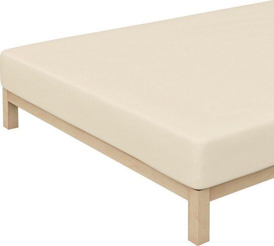 Spannbettlaken »Elasthan-Zwirnjersey«, Schlafgut, für extra-straffen Sitz