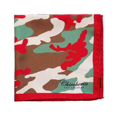 Chiccheria Brand Einstecktuch »CAMO«, Made in Italy, Camouflage, 100% Seide