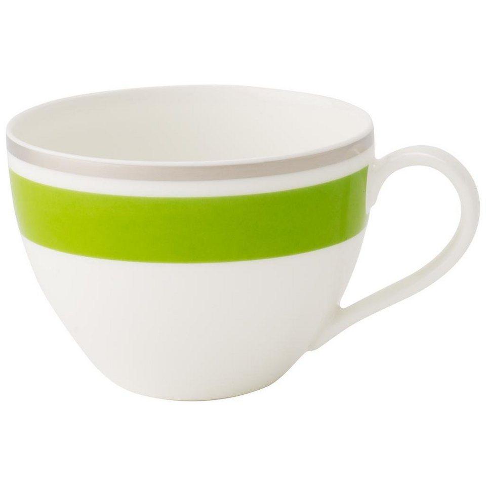 VILLEROY & BOCH Kaffeeobertasse »Anmut My Colour Forest Green« in Dekoriert