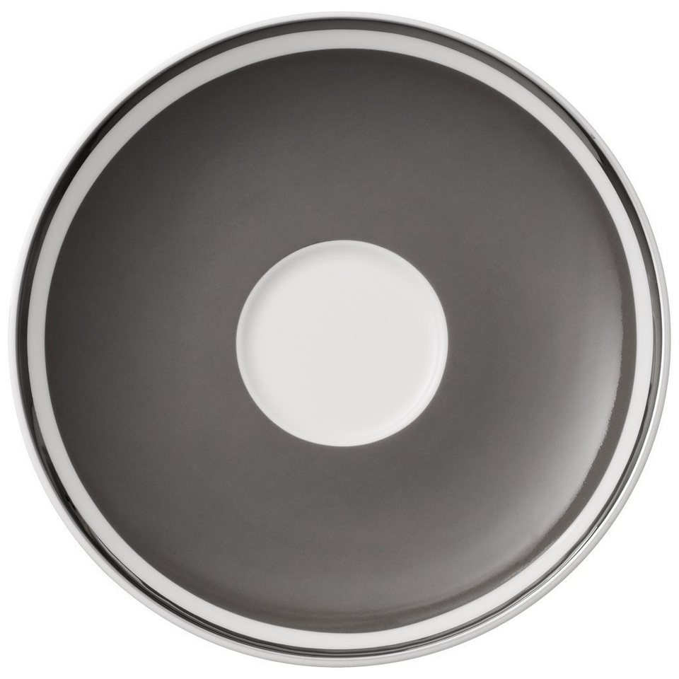 VILLEROY & BOCH Kaffeeuntertasse »Anmut My Colour Rock Grey« in Dekoriert