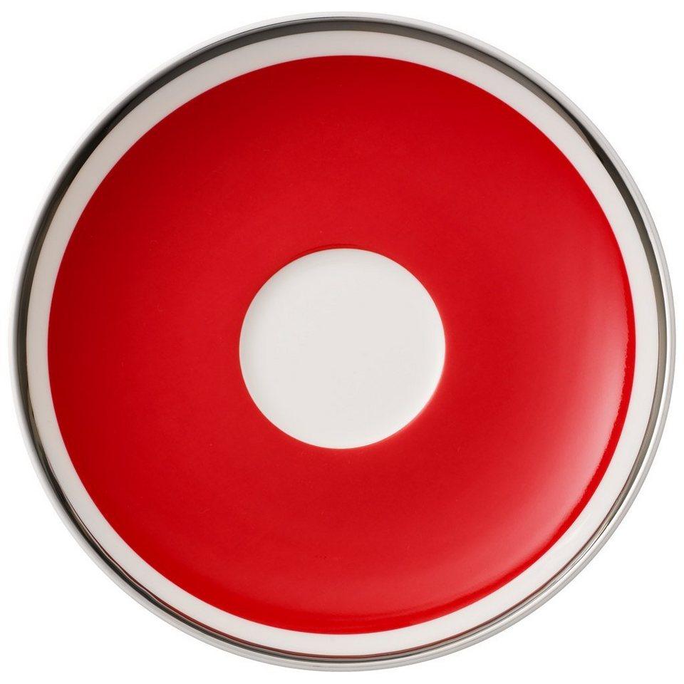 VILLEROY & BOCH Kaffeeuntertasse »Anmut My Colour Red Cherry« in Dekoriert