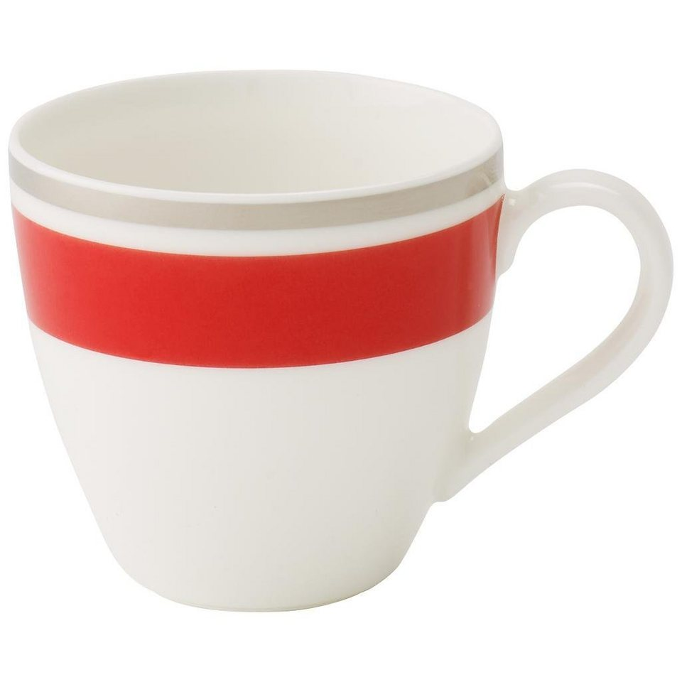 VILLEROY & BOCH Mokka-/Espressoobertasse »Anmut My Colour Red Cherry« in Dekoriert