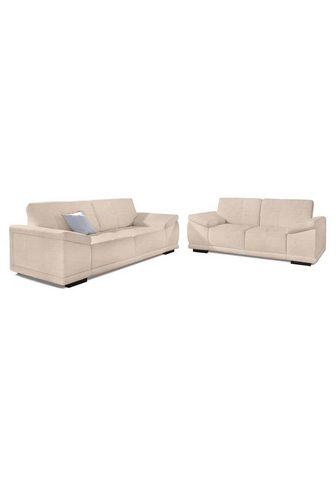 SIT&MORE Sit&more Komplektas: Trivietė sofa ir ...
