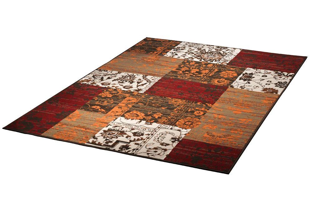 Teppich grau rot wohnzimmer teppich carpet modern grau beige