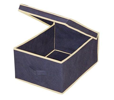Wäschebox »Größe L« in dunkelblau