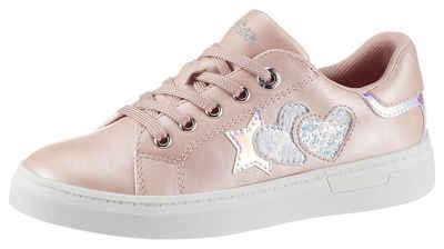 s.Oliver Sneaker mit Stern-und Herz-Aufnäher