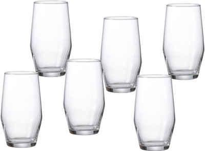 Ritzenhoff & Breker Longdrinkglas »Salsa«, Glas, robust und kristallklar, 6-teilig