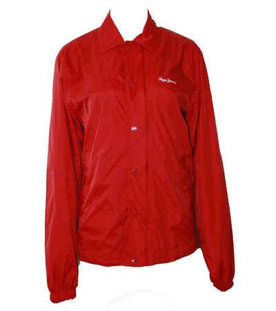 Pepe Jeans Outdoorjacke »Pepe Jeans Übergangs-Jacke angenehmer Damen Regen-Mantel mit großem Reißverschluss Outdoor-Jacke Rot«