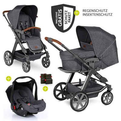 ABC Design Kombi-Kinderwagen »Turbo 4 - Street«, (9-tlg), 3in1 Kinderwagen-Set - inkl. Babyschale Hazel & XXL Zubehörpaket