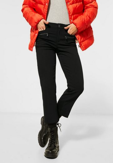 STREET ONE Jerseyhose mit Zipper-Detail