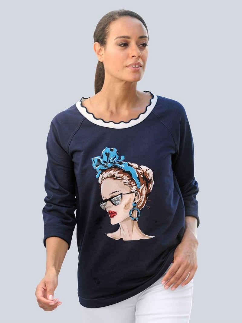 Alba Moda Strandshirt mit Frontdruck