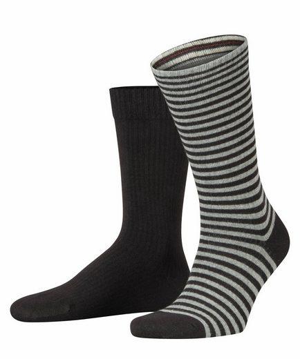Esprit Socken »Ribbed Stripe 2-Pack« (2-Paar) aus Baumwolle