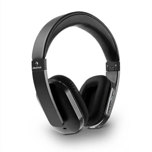 Auna »Elegance ANC Bluetooth-NFC-Kopfhörer Freisprech Geräuschdämpfung schwarz« Bluetooth-Kopfhörer