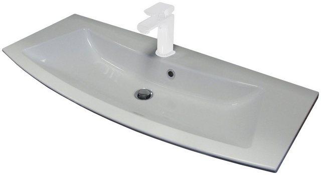 Fackelmann Waschbecken 100 cm Rondo Weiß