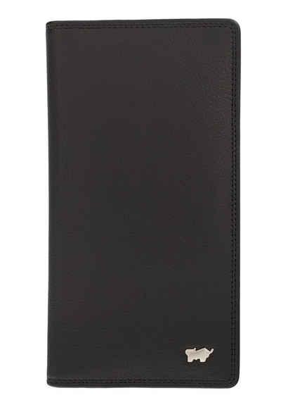 Braun Büffel Brieftasche »GOLF 2.0 Brieftasche 14CS schwarz«, mit großen Steckfächern