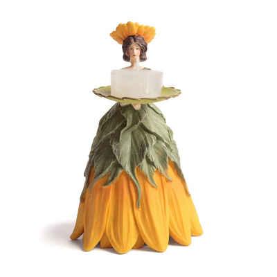 ROSEMARIE SCHULZ Heidelberg Dekofigur »Dekofigur Blumendame Sonnenblume Gartenfigur für Innen Dekoobjekt«, Sammlerstück