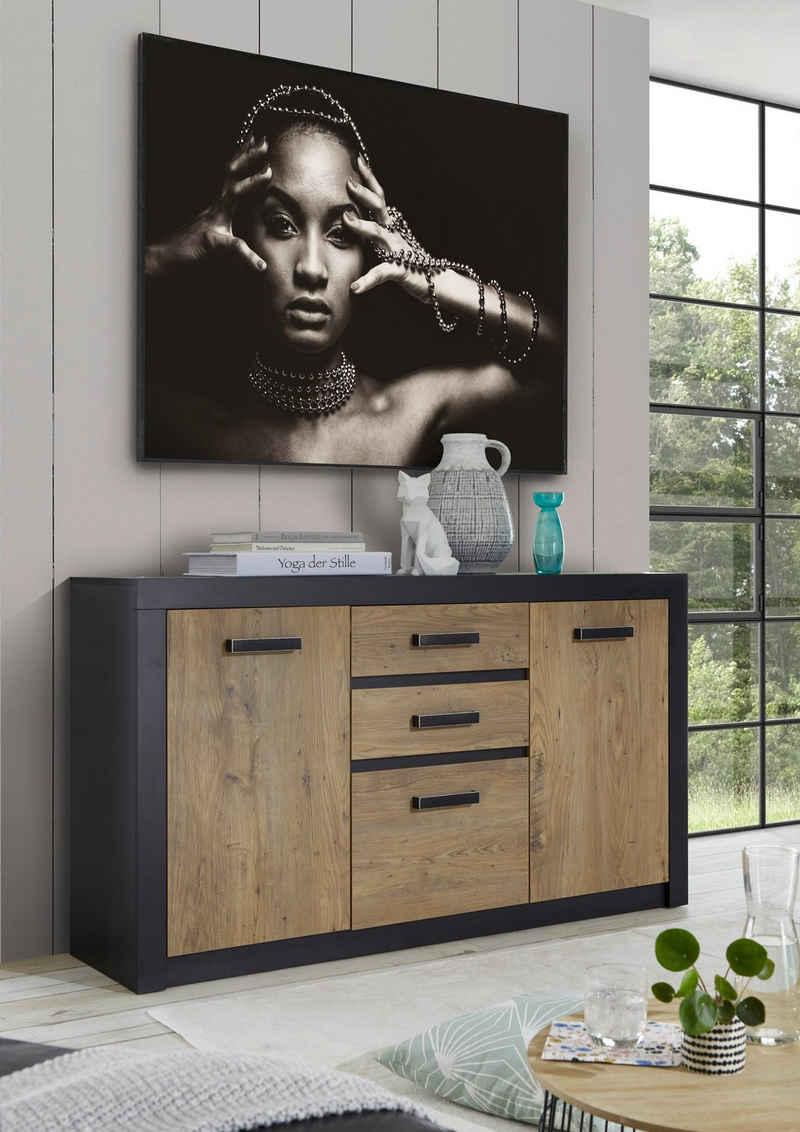 my home Sideboard »Bruegge«, Mit einer dekorativen Rahmenoptik