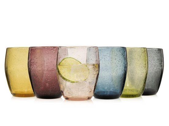 SÄNGER Gläser-Set »London«, Glas, Ausdesignte Tropfenstruktur