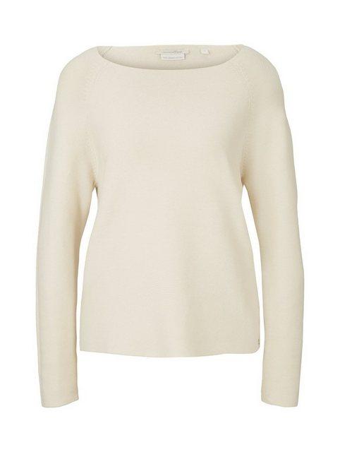 Artikel klicken und genauer betrachten! - structured raglan pullover für Frauen (langärmlig mit U-Boot-Ausschnitt) aus weicher und atmungsaktiver Baumwolle, enthält nachhaltige Baumwolle, strukturiert, mit Raglanärmeln | im Online Shop kaufen