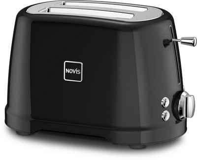 NOVIS Toaster T2 schwarz, 2 kurze Schlitze, 900 W