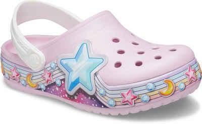 Crocs »Ballerina Pink, FL Star Band Clog K« Clog mit bunten Sternenmotiven verziert