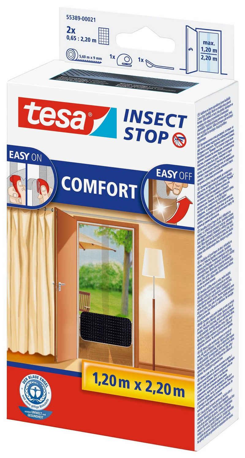 tesa Insektenschutz-Tür »Insect Stop Fliegengitter COMFORT für Türen«, (1-St), Insektenschutz, inklusive Andrück- und Schneidehilfe, UV- Beständig