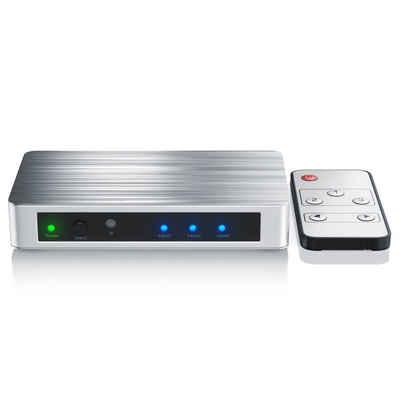 Primewire Audio / Video Matrix-Switch, 3-Port 4k UHD HDMI Switch mit Fernbedienung & Netzteil 3x HDMI IN / 1x HDMI OUT