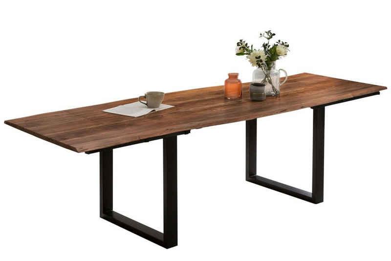 SAM® Baumkantentisch »Diana«, Akazie Massivholz nussbaumfarben 26mm natürliche Baumkante