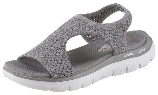 Skechers »Flex Appeal 2.0 - Deja Vu« Sandale mit feinem Lochmuster