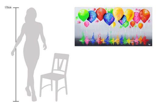 KUNSTLOFT Gemälde »In allen Farben«  handgemaltes Bild auf Leinwand