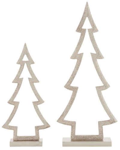 CHRISTMAS GOODS by Inge Dekobaum »Tannenbaum« (Set, 2 Stück), aus Holz, Höhe ca. 25,5 + 35,5 cm