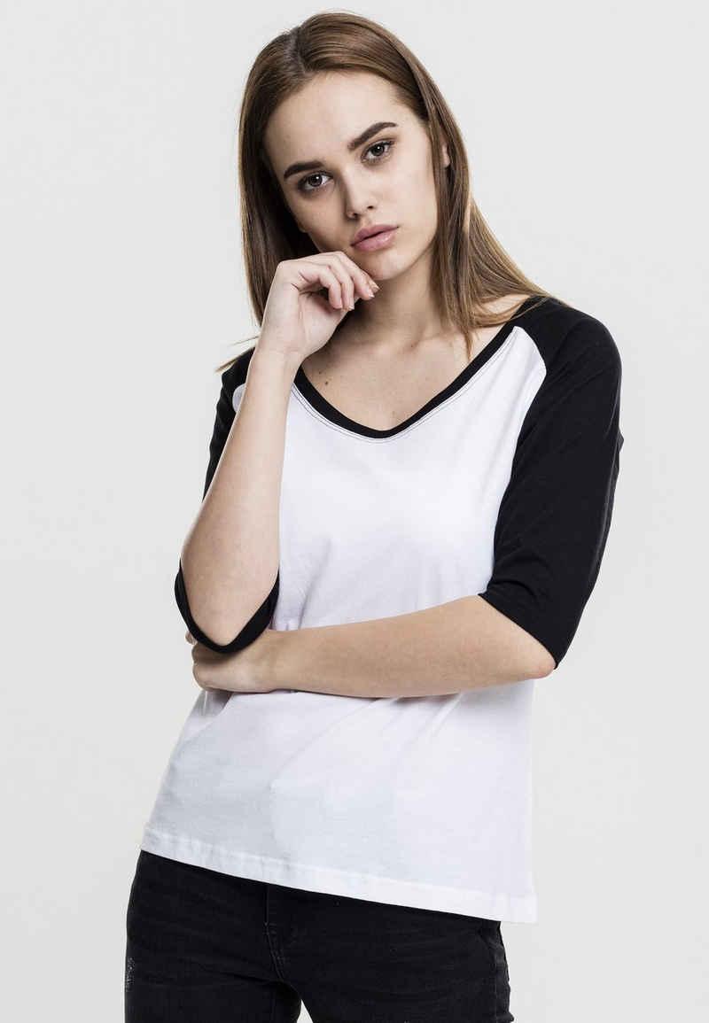 URBAN CLASSICS T-Shirt »Ladies 3/4 Contrast Raglan Tee«