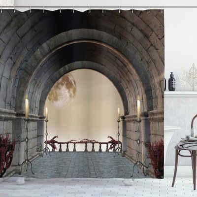 Abakuhaus Duschvorhang »Moderner Digitaldruck mit 12 Haken auf Stoff Wasser Resistent« Breite 175 cm, Höhe 180 cm, Mystik Mittelalter Balkon