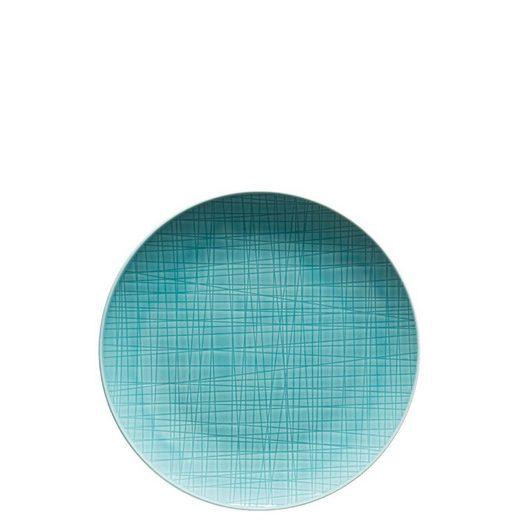 Rosenthal Frühstücksteller »Mesh Colours Aqua Teller 21 cm flach«, (1 Stück)