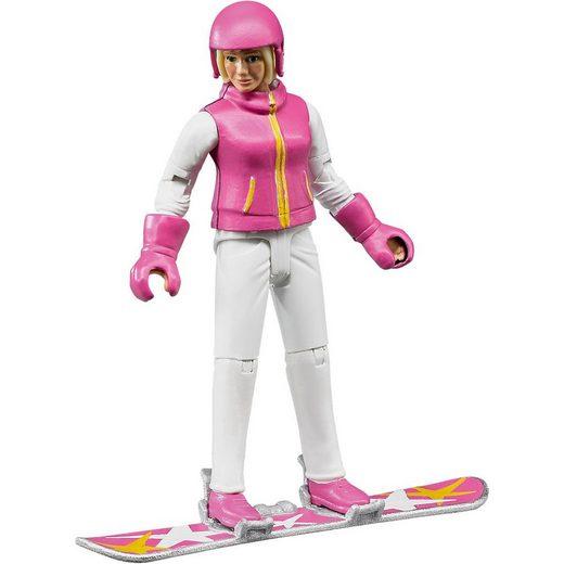 Bruder® Spielzeug-Auto »BRUDER 60420 bworld Snowboardfahrerin mit Zubehör«
