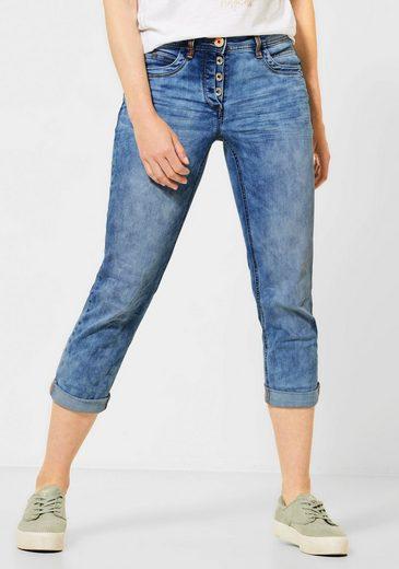 Cecil Loose-fit-Jeans »Scarlett« mit leicht verdecktem Knopfverschluss