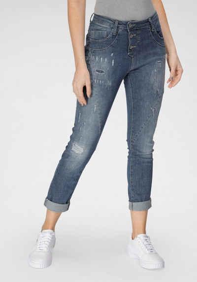 Please Jeans Boyfriend-Jeans »P 78A« Original Boyfriend Cut mit Destroyed Effekten